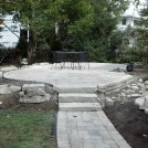 Glenview. New Patio and Steps to Old Patio in Process