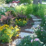 Re-Used Concrete Stepping Stone Pathway