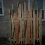 Re-Use of Scavenged Wood Screen