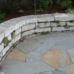 Re-crete (Recycled Concrete) Seat Wall and Full-Range Bluestone patio