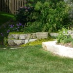 Eden Stone Wall Provide Terraced Beds on this Sloped Area